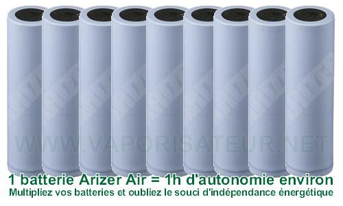 Plusieurs batteries rechargeables pour Arizer Air
