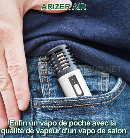 Vaporisateur portatif Arizer Air rangé dans une poche