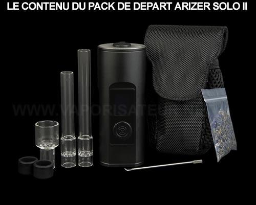 Tout ce qui est contenu dans le pack complet vaporisateur Arizer Solo 2