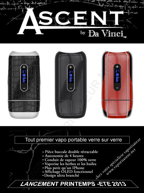 Vaporisateur Ascent revendeur France