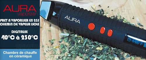 Principales caractéristiques du pen vape Aura Flowermate