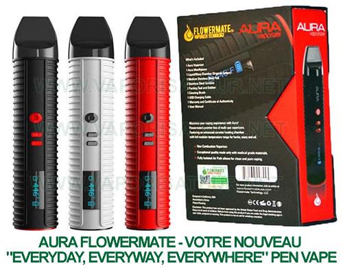 Aura Flowermate vaporisateur pen à affichage digital de température