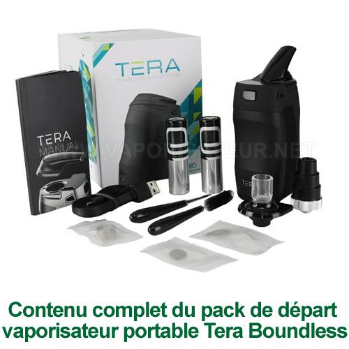 Contenu complet et détaillé du pack vaporizer Tera Boundless