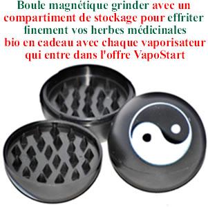 Grinder boule magnétique en cadeau avec chaque vaporisateur