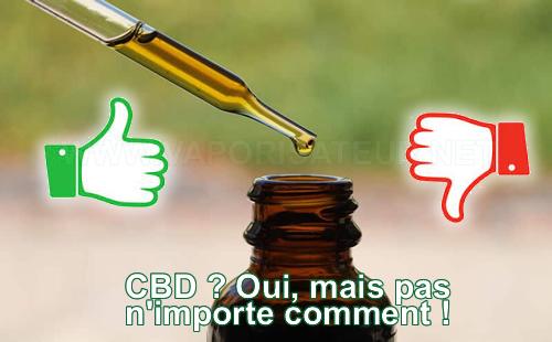 Dangers d'huile de CBD, précautions obligatoires