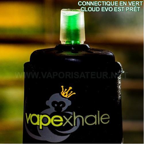 Cloud Evo Vapexhale en mode prêt à vaporiser - voyant vert