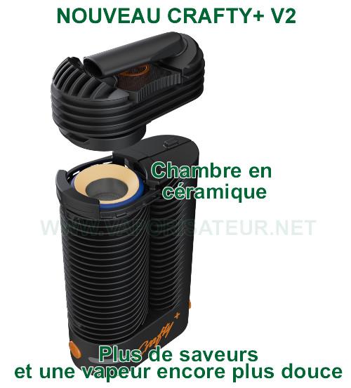 La nouvelle chambre de chauffe en céramique du vaporizer portable Crafty+ V2