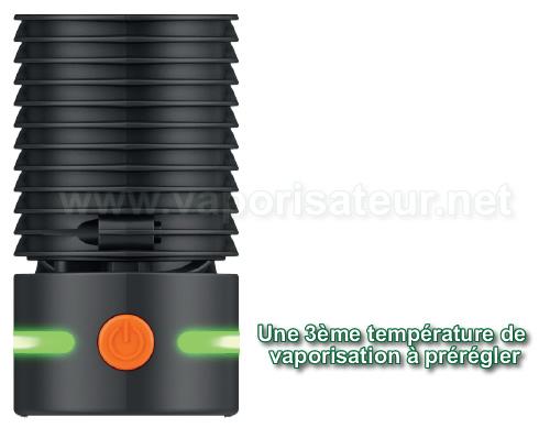 Une troisième température de chauffe est présente sur le vaporisateur portable Crafty+