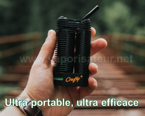 Exemple de portabilité du vaporisateur portable Crafty+ et demonstration de sa tenue en main