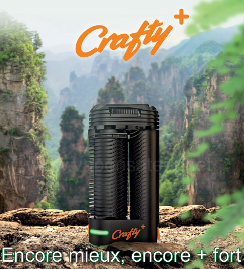 Meilleure ergonomie du vaporisateur portable Crafty+, plus facile à tenir en main