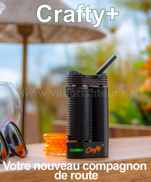 Vaporisateur Crafty+ a une meilleure autonomie avec une batterie interne rechargeable renforcée