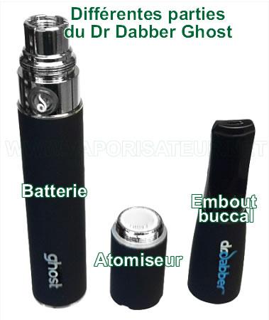 Toutes les parties et les éléments du pen vape Dr Dabber Ghost