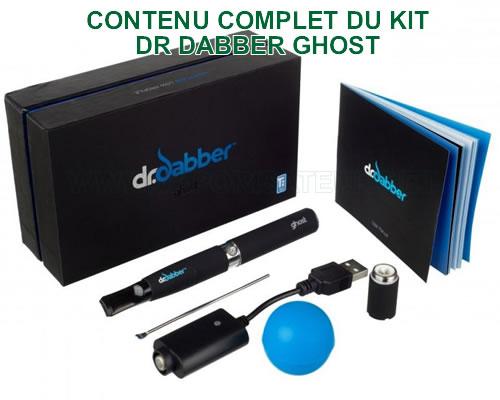 Le contenu explicite du pack vapo pen Dr Dabber Ghost