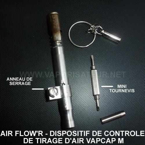 Kit de contrôle de tirage d'air pour vapo VapCap M