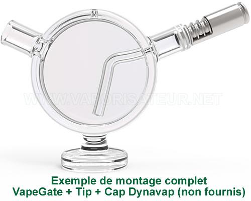 Présentation d'un exemple de branchement du vapo DynaVap sur le bubbler VapeGate