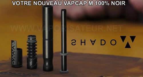 DynaVap VapCap M Shadow nouvelle version en acier inoxydable noir 2018