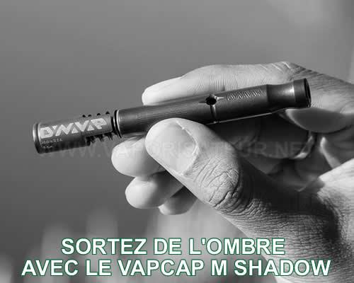 Présentation à l'échelle dans la main du nouveau vaporisateur DynaVap VapCap M Shadow