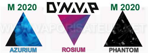 Couleurs du vaporisateur VapCap M2020: Rosium - Rose, Azurium - Bleu, Phantom - Noir