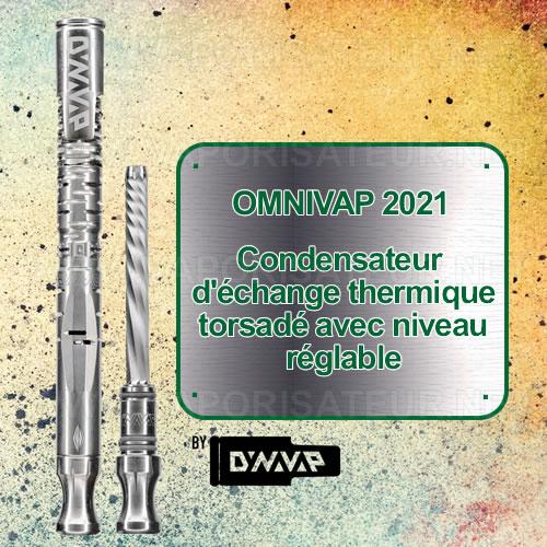 Condensateur torsadé du vaporizer OmniVap 2021 permet de mieux refroidir la vapeur et contribue à l'amélioration du tirage général