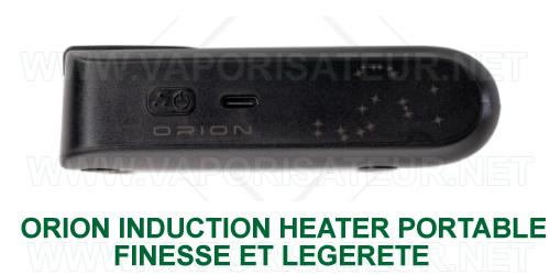 Vue latérale du Orion -¨Pocket Induction Heater pour vaporisateurs DynaVap