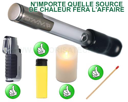 Les différents mode de chauffe du vaporisateur portable VapCap Original Dynavap