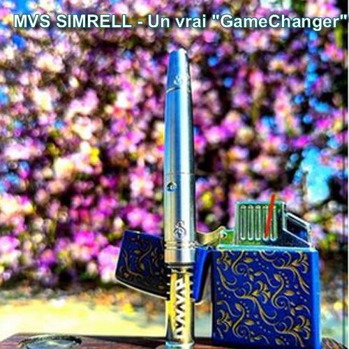 Nouveau stem en titane MVS - Modular Vortex System de The Simrell Collection pour vaporisateurs DynaVap