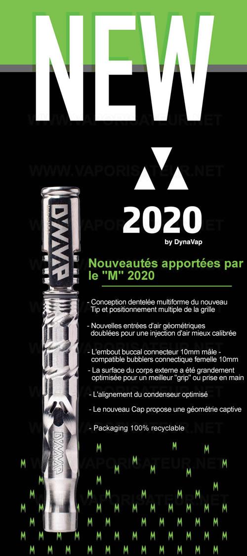 Toutes les nouvelles caractéristiques du nouveau vaporisateur VapCap DynaVap M 2020