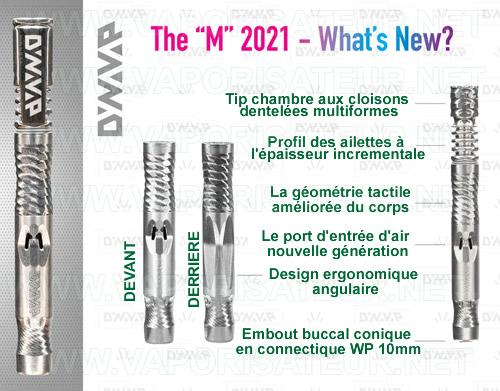 Toutes les caractéristiques présentées du nouveau modèle du vaporisateur VapCap M 2021 DynaVap