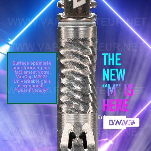 La surface améliorée du vaporisateur DynaVap M 2021 rendant la rotation plus facile