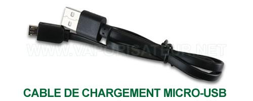 Câble de chargement micro-USB Feather KandyPen en gros plan