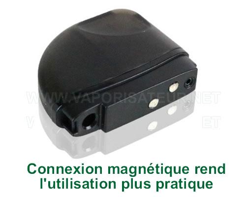 Connexion magnétique du vaporisateur-cigarette électronique CBD Feather KandyPen