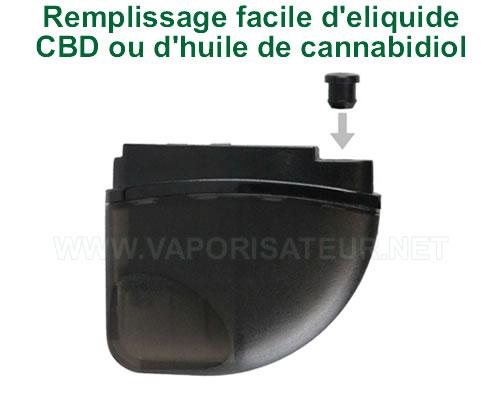 Remplissage facile du pod magnétique Feather KandyPen grâce à la languette-bouchon de sécurité en silicone