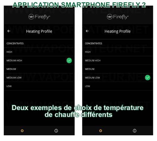 Application smartphone Firefly 2 - vaporisateur portable connecté