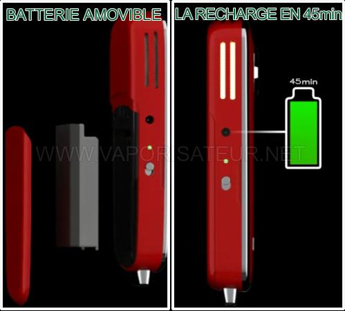 La recharge de la batterie du vaporisateur Firefly et sa batterie amovible
