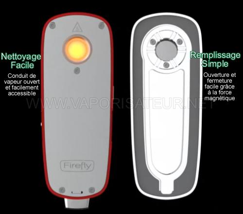 Le principe du nettoyage simple du vapo portable Firefly