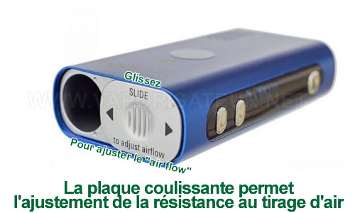 Dispositif d'ajustement du tirage d'air du vaporizer Flowermate Mini Pro