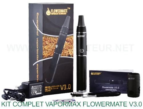 Vaporisateur stylo pen Vapormax Flowermate V3 - le contenu de la boite