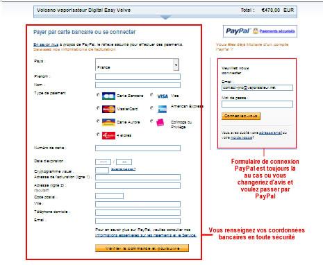 Formulaire de paiement sécurisé vaporisateur.net