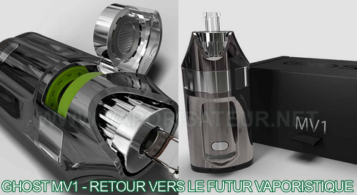 Le look futuriste du vaporisateur portable Ghost MV1