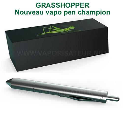 Vapo pen Grasshopper présenté à côté de sa boite d'origine