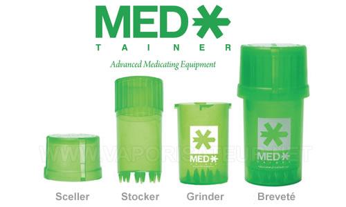 Medtainer grinder et boite à herbes pour vaporisateur