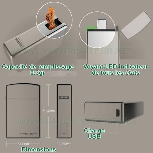 Principe de focntionnement du vaporisateur portable Indica