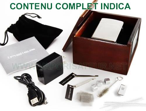 Le contenu complet et détaillé du pack d'origine Indica