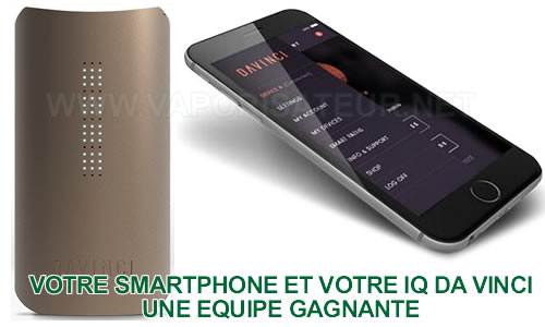 Application smartphone Android et iOS pour vaporizer portable IQ Da Vinci