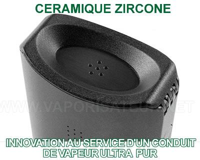 Chemin de vapeur pur grâce aux parois en céramique Zircone