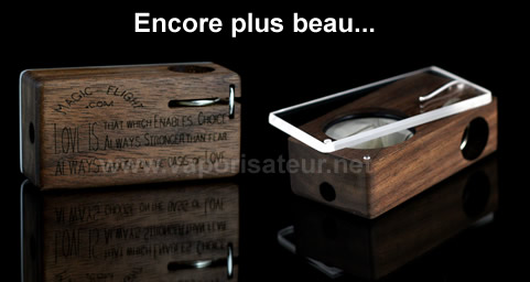 Magic Flight Launch Box Walnut vaporisateur MLFB bois de noisetier