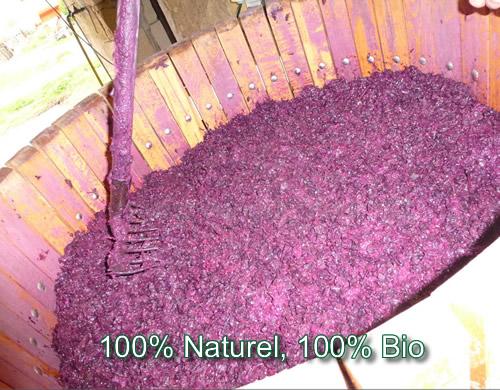 Marc de raisin bio certifié organique par l'organisme officiel de l'Etat - la garantie d'une securité absolue pour vos séances de phyto et aroma