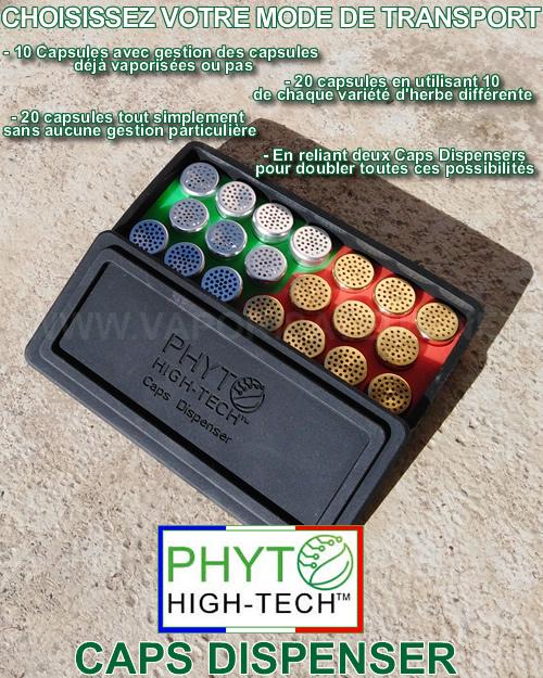Comment transporter beaucoup de capsules doseuses à la fois avec le Caps Dispenser Phyto High Tech - Support de transport multiple