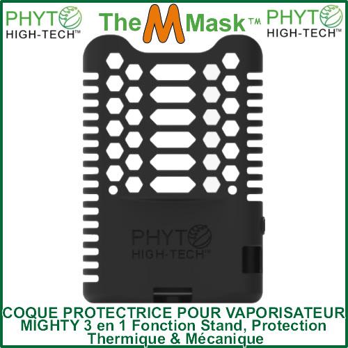 """Vue derrière de la coque protectrice en silicone pour vaporizer Mighty """"The M Mask"""" Phyto High-Tech"""