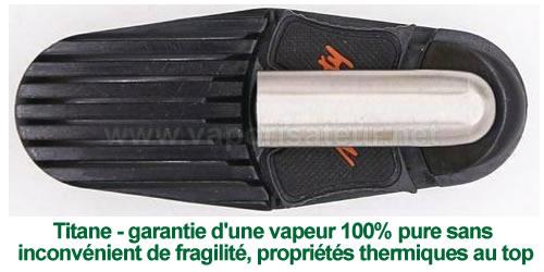 Embout buccal en titane pour vaporisateur portable digital Mighty et Crafty